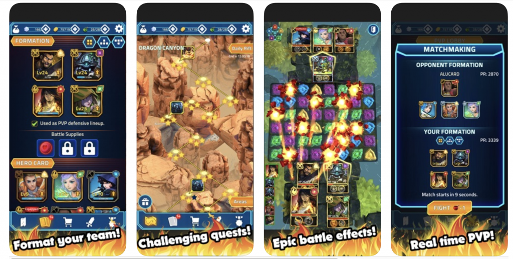 Screenshot of mobile game to demonstrate the importance of using good screenshots in app search optimisation